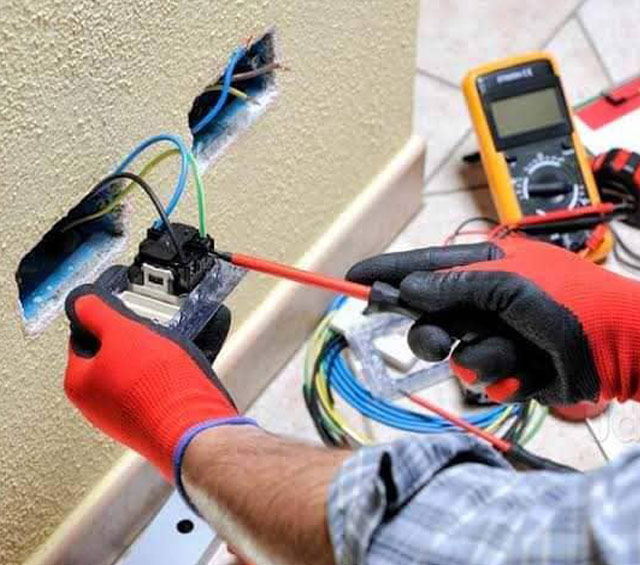 Electrical Works by Bright Point Technical and interior design company in Dubai