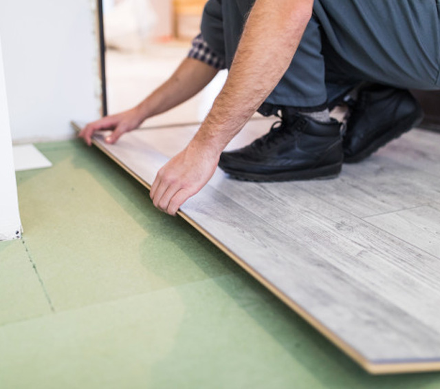 Flooring Works by Bright Point Technical and interior design company in Dubai