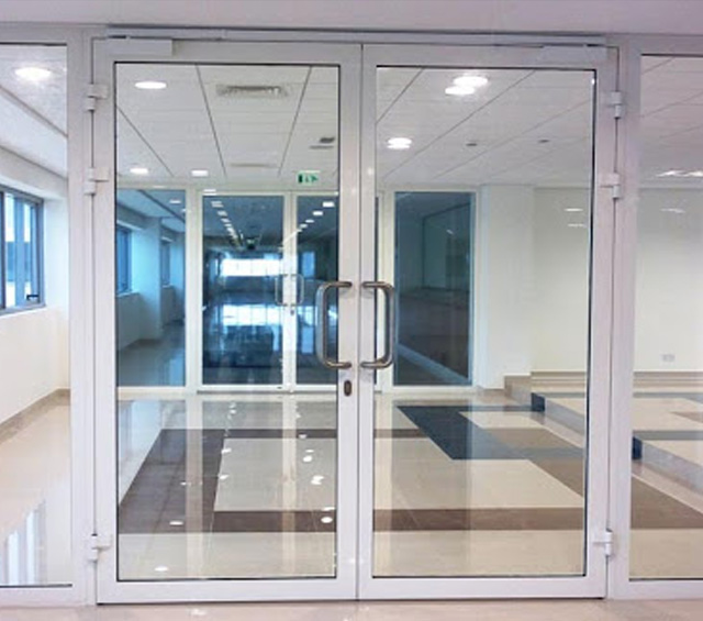 Glass partition and Aluminium Works by Bright Point Technical and interior design company in Dubai